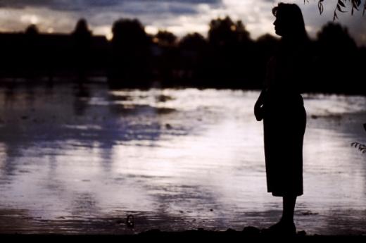 Lilia Limon en la laguna de Guachochic.